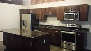 Countertops For Kitchen Black Stained Concrete Kitchen Countertop And Island Concrete