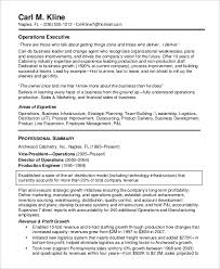 Operations Management Resume Examples Sample Executive Resume 8 Examples In Word Pdf