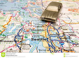 Map Of Seattle Driving In Seattle Stock Image Image Of Automobile City 32928957