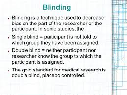 What Are Double Blind Studies Evidence Based Medicine Week 2 Basic Research Concepts In Western