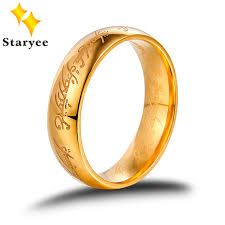 gold fine rings images The lord of rings ring for men women the precious ring of mordor jpg