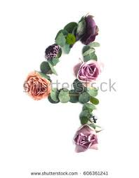 Part Of Flowers - alphabet made of flowers stock images royalty free images