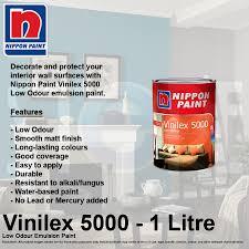 qoo10 nippon paint vinilex 5000 low odour emulsion paint one
