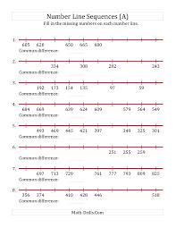 line pattern worksheet kindergarten increasing and decreasing number line sequences with
