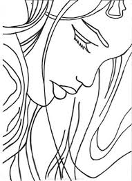 simple sketch of a woman u0027s face traceable art for journaling