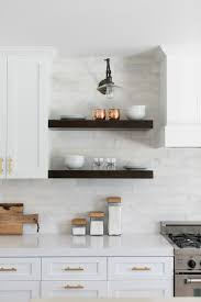 white kitchen wall display cabinets 12 ways to decorate with floating shelves hgtv s