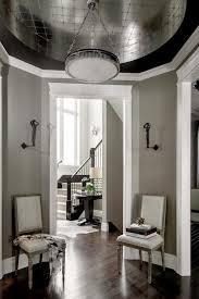 Silverleaf Interiors Silver Leaf Ceiling Contemporary Entrance Foyer Atmosphere