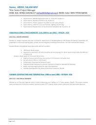 Arif Resume Sr  Proj  Manager DOC Page   of