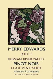 merry edwards flax vineyard pinot noir russian river valley usa
