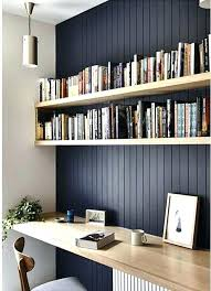 Office Desk Shelves Desk With Shelving Office Desk With Bookcase Feature Wall