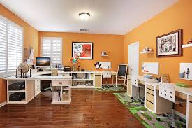 Hot Trend  Vibrant Home Offices With Bold Orange Brilliance - Home office design images