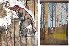artwork on wood joel knafo presents on wood show widewalls