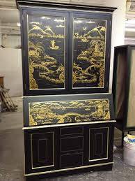 Chinoiserie Secretary Desk by Painted And Glazed U2013 Art Applications Inc