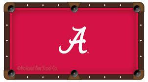 Logo Table Cloth by Alabama Pool Table Cloth College Logo Felt Pool Table Cloth