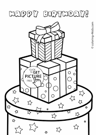 gifts coloring pages newcoloring123