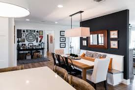 Beautiful Dining Rooms With Black Accent Walls Home Design Lover - Dining room accent wall