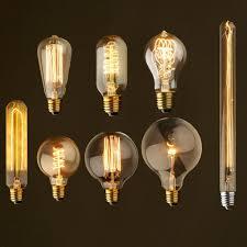40w antique vintage retro edison bulbs e27 spiral incandescent