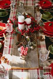 Christmas Plaid Table Runner by 35 Christmas Table Decorations U0026 Place Settings Holiday Tablescapes