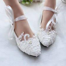 wedding shoes flats flat wedding shoes ebay