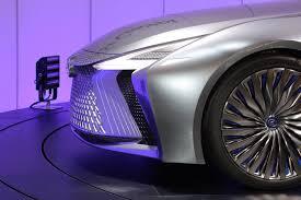 lexus concept sports car lexus ls concept sports a snowplow like spindle grille in tokyo