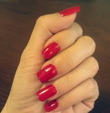 nails red beautify themselves with sweet nails