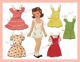printable paper dolls instant download printable paper doll digital collage sheet