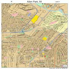 map of allen allen park michigan map 2601380