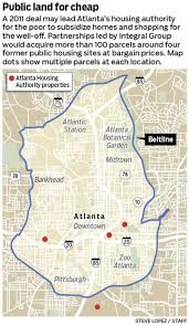Atl Map How Atlanta U0027s Housing Agency For The Poor Might Help The Well Off