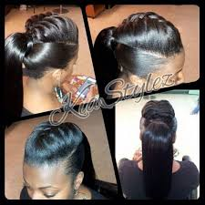 human hair ponytail with goddess braid awesome amazon braziliian hair h a i r m a k e u p pinterest