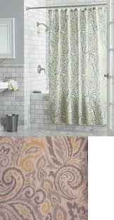 Yellow Paisley Shower Curtain by Shower Curtains 20441 Threshold Gray And Yellow Paisley Fabric