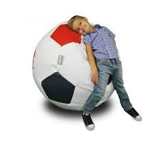 Football Swivel Chair by Ball Large Multicolor Bean Bag Chair