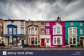 colourful painted guest houses and b u0026b u0027s in hull road blackpool