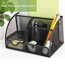 Small Desk Organizer Deli Office Pen Container Small Objects Storage Box