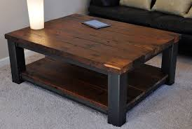wood metal end table rustic coffee table zazoulounge com
