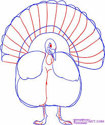 how to draw a thanksgiving turkey step 3 cmc window ideas