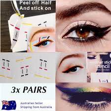new stick on hands free cat eyeliner templates x 3 pairs