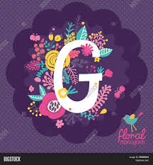 monogram websites vintage floral monogram vector photo bigstock