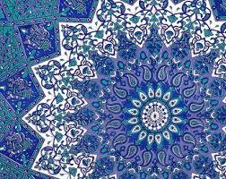 blue tapestry wallpaper