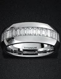 comfort fit titanium mens wedding bands mens wedding band 8mm titanium ring high polished surface flat cut