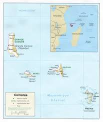map comoros comoro islands