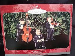 the three stooges ornaments musicians cello violin spoons hallmark