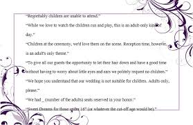 wedding reception wording wedding invitation wording no children how to and sles