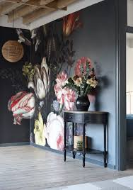 flowers in a vase with shells and insects mural national love the large still life on dark wall trending large wall art wallpaper hand painted murals