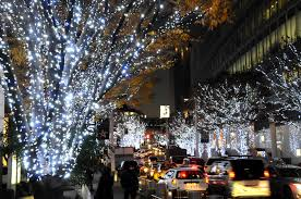 festive lights prevail with restraint the japan times