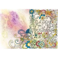 Doodle Birthday Card Happy Birthday Card Doodle Youtube