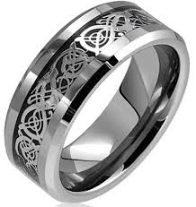 mens tungsten rings images Dragon lucky 8 beveled tungsten carbide ring 8mm mens dragon png