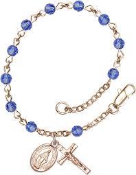 sapphire crystal bracelet images Bliss infant baby sapphire 14kt gold swarovski crystal rosary bracelet gif
