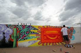 phoenix taco new calle 16 mural under construction in progress shots of a new murals going up by angel diaz lalo cota griffin one thomas breeze marcus ishmael duenas and pablo luna