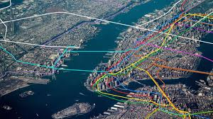 Boston Subway Map With Streets by See The Subway Map Snake Through New York U0027s Streetscape Curbed Ny