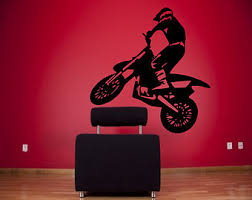 Sports Decals For Kids Rooms by Bike Wall Decal Etsy